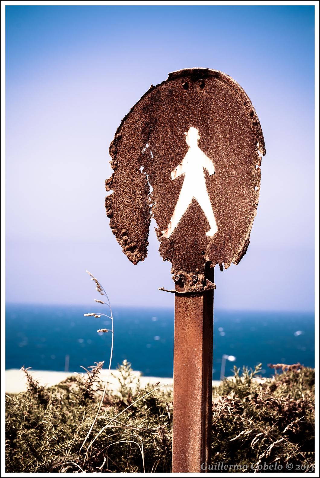 Inicio de una hermosa ruta costera ruta en Cabo Vilán.